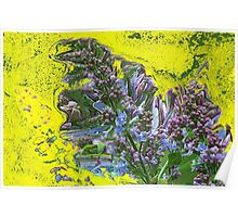 Happy Lilac abstract Poster