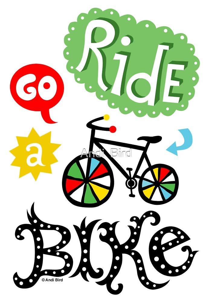 Ride a Bike ll - card  by Andi Bird