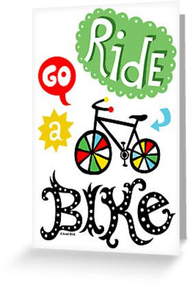 Ride a Bike ll - card  by Andi Bird