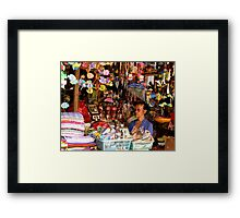 Ubud Market, Bali Framed Print