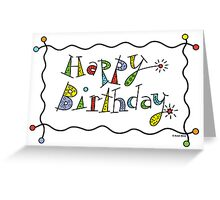 Sparkling Birthday  ll - card Greeting Card