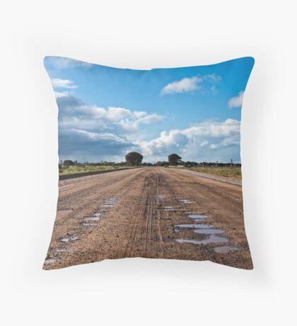 Dirt Road at Wattle Point - Edithburgh SA Throw Pillow