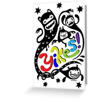 Yikes!  ll - cards  Greeting Card
