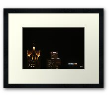Darkness In Downtown Framed Print