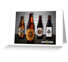 Beer Lineup Greeting Card