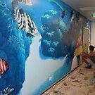 Underwater Reef Mural by tomcosic