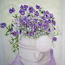 Purple Violets by Brenda Dow