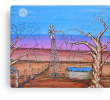"""Ned Kelly Gang's Pool & Old Man Emu""  Original Sold Canvas Print"