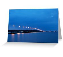 Bay Bridge to Ocean City Maryland Greeting Card