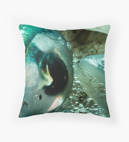 Squid Eye Macro Throw Pillow