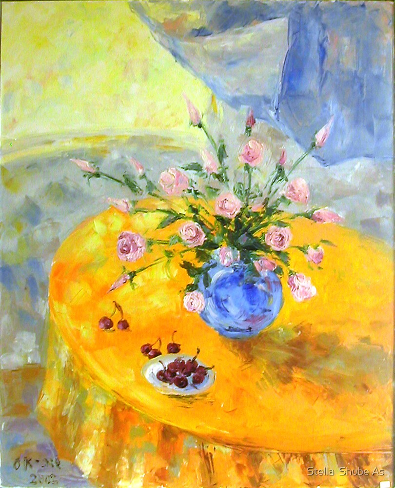 Yellow table by Stella  Shube As