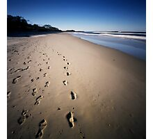 walking on the beach Photographic Print
