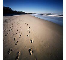 walking on the beach Photographic Print