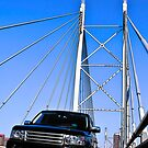 SUV on Nelson Mandela Bridge - In Cartoon Rendition by RatManDude