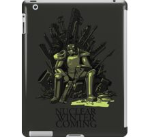 Nuclear winter is coming iPad Case/Skin