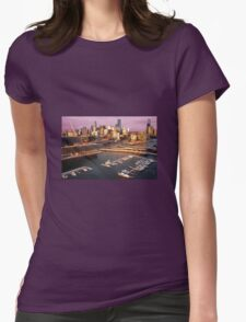 Sunset, Melbourne Docklands Womens Fitted T-Shirt