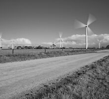 Wind Power in Motion - Monochrome by AllshotsImaging