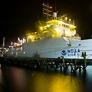NOAA ship in Woods Hole, MA by Douglas Gaston IV