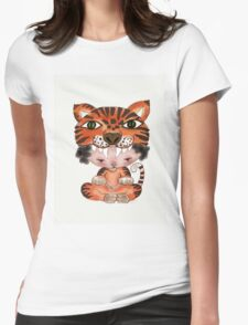 My Favourite Animal is a Tiger - Throw Pillow Womens Fitted T-Shirt