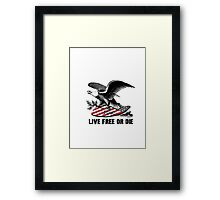 New Hampshire Live Free or Die Eagle & Shield Framed Print