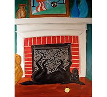 Lucy near the fireplace Photographic Print