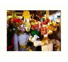 Wayang Wong, Ubud, Bali Art Print