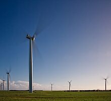 Wattle Point Windfarm in Motion by AllshotsImaging