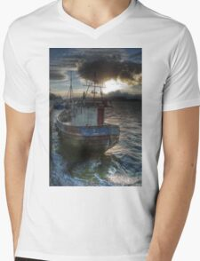 fishing boat Mens V-Neck T-Shirt