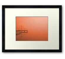 Fog at Sunset Framed Print