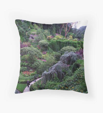 Sunken Garden No.2 Throw Pillow