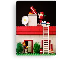 Who's That Up On The Roof? Canvas Print
