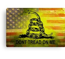 Don't Tread on Me Shirts & Sticker American Flag Background Canvas Print