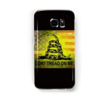 Don't Tread on Me Shirts & Sticker American Flag Background Samsung Galaxy Case/Skin