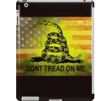 Don't Tread on Me Shirts & Sticker American Flag Background iPad Case/Skin