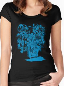 Tales of Video Games (blue) Women's Fitted Scoop T-Shirt
