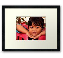 Ubud Girl, Bali Framed Print
