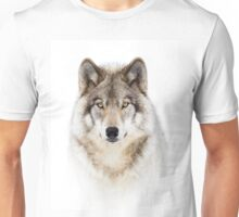Portrait of a Wolf - Timber Wolf Unisex T-Shirt