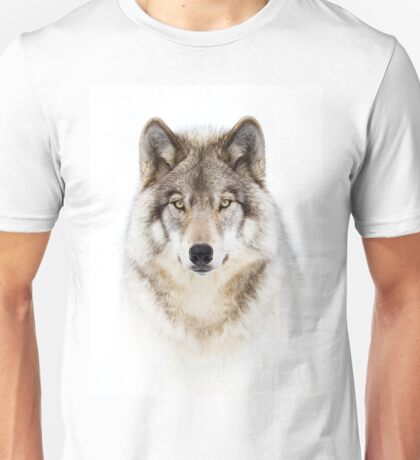 Portrait of a Wolf - Timber Wolf T-Shirt