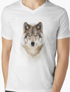 Portrait of a Wolf - Timber Wolf Mens V-Neck T-Shirt