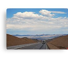 Thru  End Of The Road Canvas Print