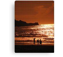 Surfers in Pacifica, San Fancisco Bay Area Canvas Print