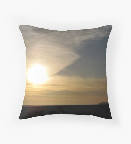 Sunset in Half Moon Bay (II) Throw Pillow