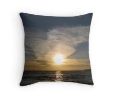 Sunset in Half Moon Bay, California Throw Pillow