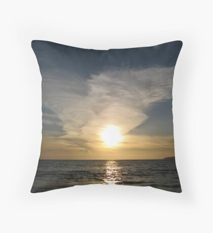 Sunset in Half Moon Bay, California Throw Pillow