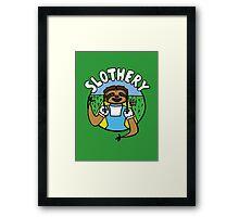 Slothery Framed Print