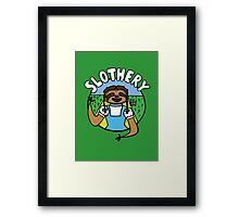 Slothery Framed Print