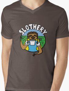 Slothery Mens V-Neck T-Shirt