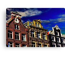 Buildings in Amsterdam Fine Art Print Canvas Print