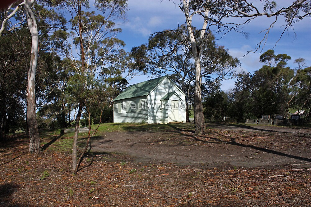 Sandford Congregational Church - Tasmania 1862 by PaulWJewell