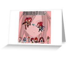 fairy tail erza scarlet anime manga shirt Greeting Card